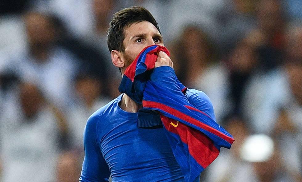 Messi, depois de marcar o gol que decidiu o clássico com o Real Madrid.