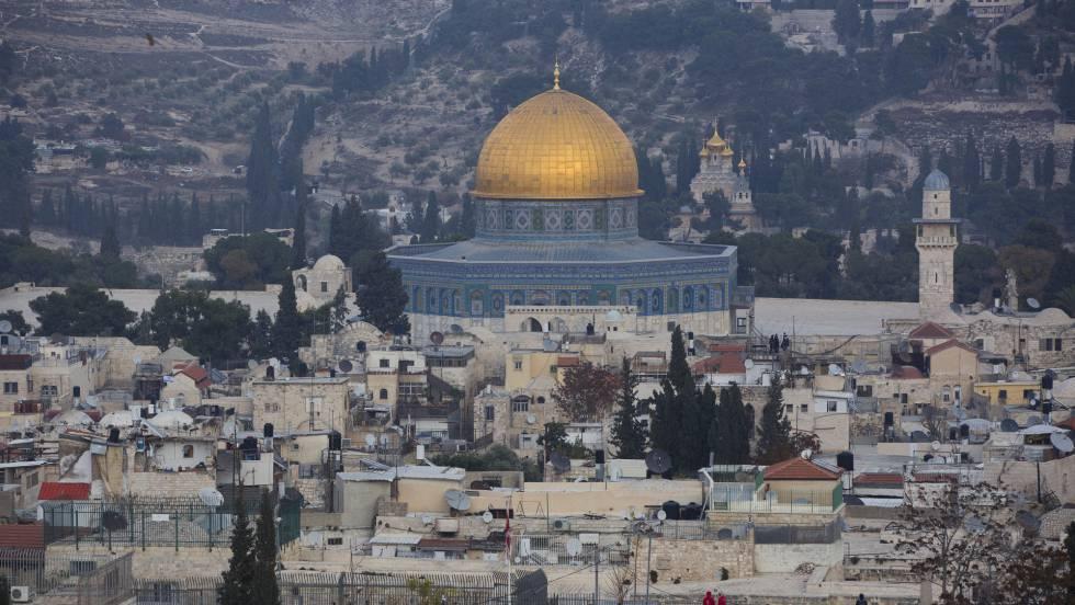 Vista da cidade velha de Jerusalém, na terça-feira.