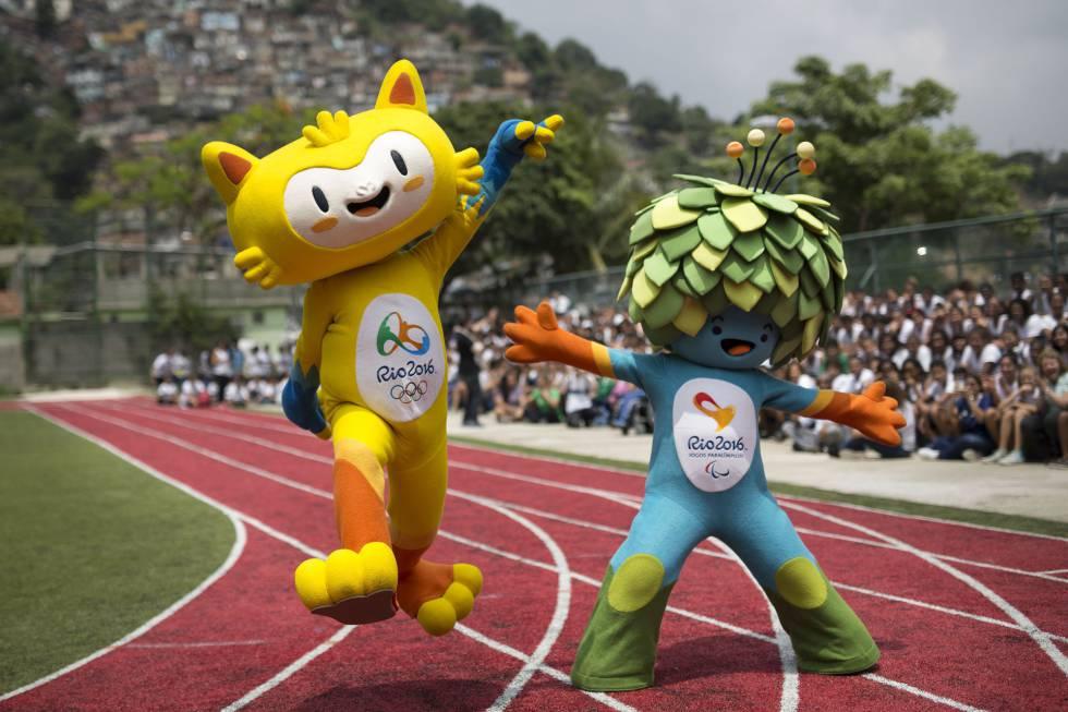 Tom e Vinicius, as mascotes do Rio 2016.
