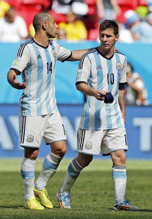 Messi e Mascherano falam ante Bélgica.