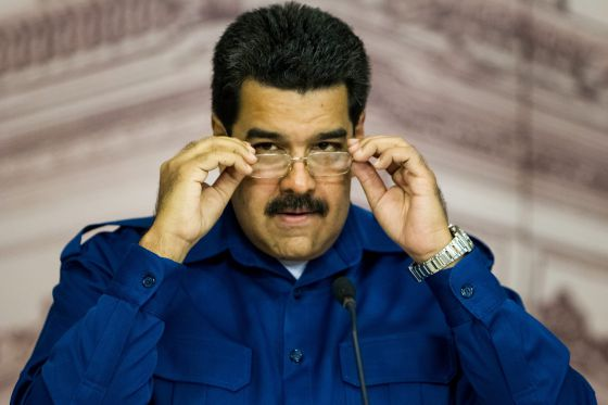 O presidente venezuelano, Nicolás Maduro, em uma entrevista coletiva.