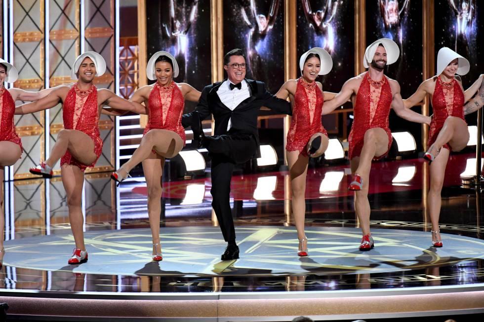 Stephen Colbert na apresentação do Emmy 2017.