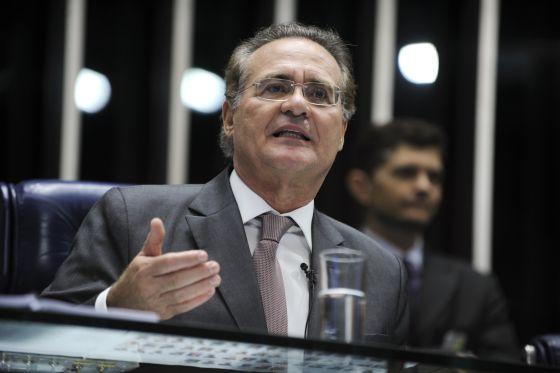 Senador Renan Calheiros nesta terça.
