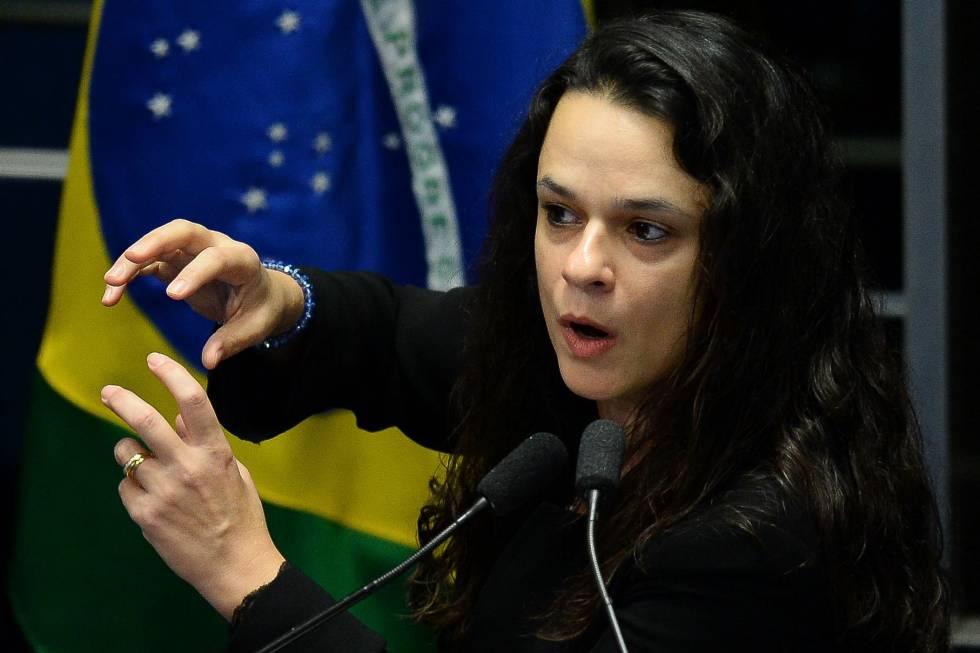 A advogada Janaina Paschoal, no Senado.