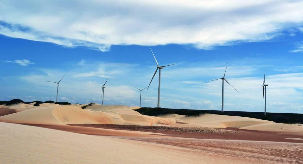 Parque eólico da Iberdrola no Rio Grande do Norte.