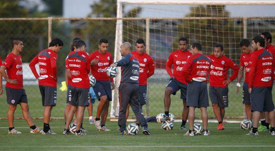 A seleção do Chile treina em Belo Horizonte.