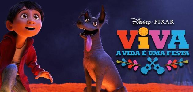 Pôster promocional de 'Viva - A vida é uma festa!', que fora do Brasil chama 'Coco'.
