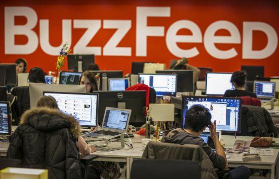 Redação de BuzzFeed em Manhattan.