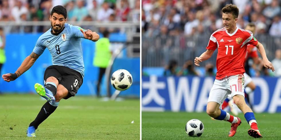 Luis Suárez e Aleksandr Golovin.