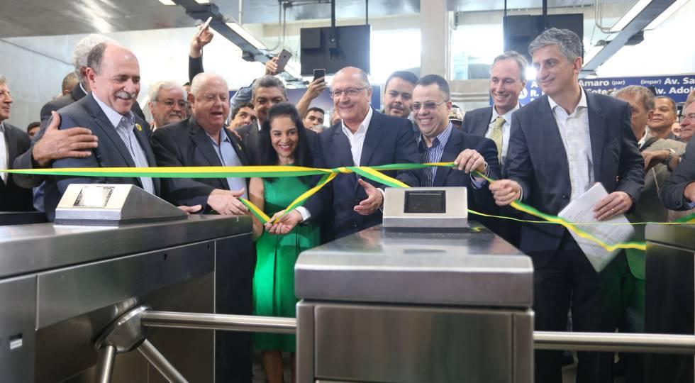 Geraldo Alckmin inaugura estação da Linha 5-Lilás.