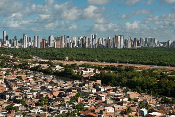 Vista panorâmica do Recife.