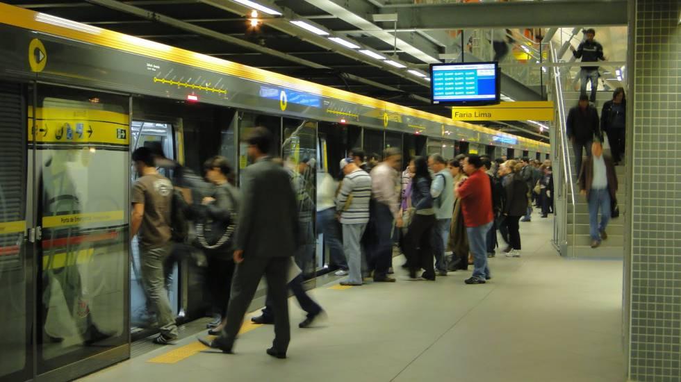Estação Faria Lima, da Linha 4-Amarela