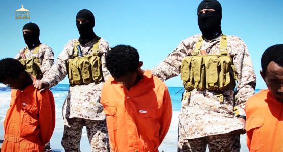 Fotograma do vídeo difundido pelo Estado Islâmico.