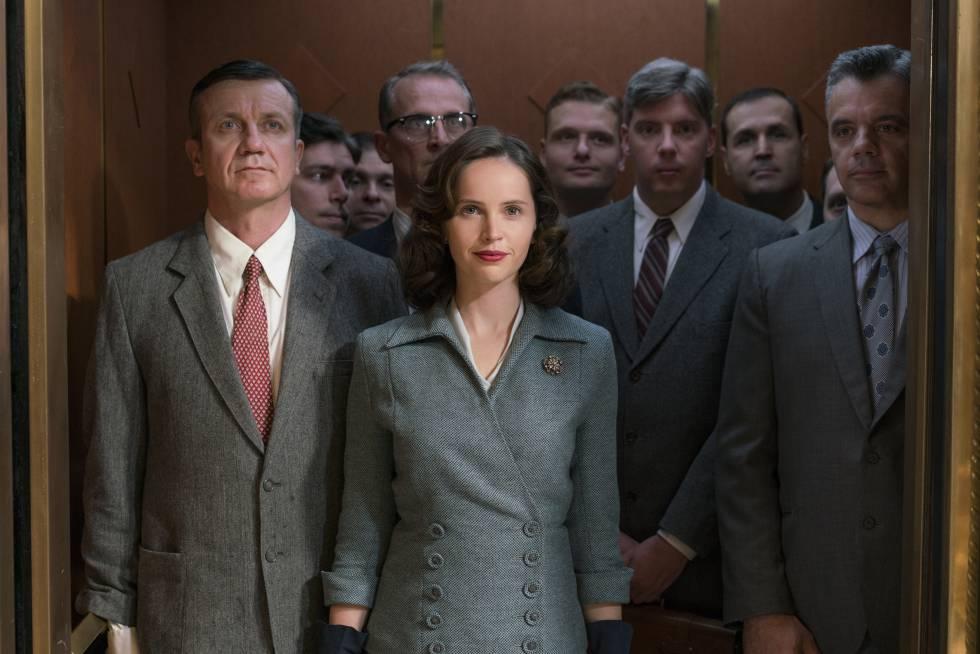 Felicity Jones em cena de 'Suprema'.