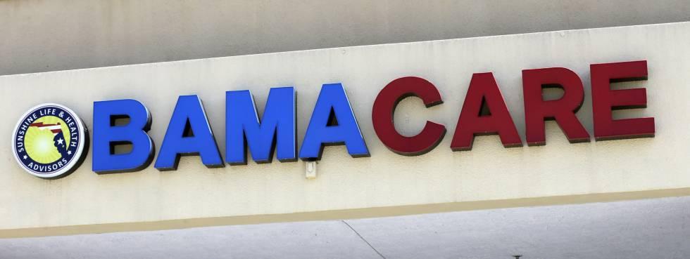 Letreiro do Obamacare em Hialeah, na Flórida.