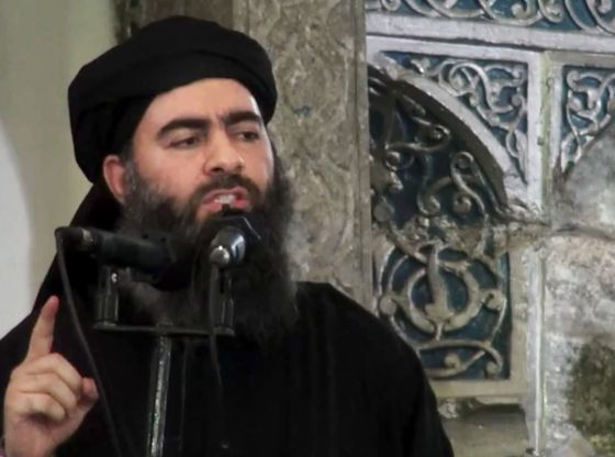 O líder do EI, Abu Bakr al-Baghdadi, em julho de 2014 no Iraque.
