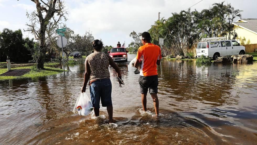 Naples, uma das zonas mais afetadas pelo Irma