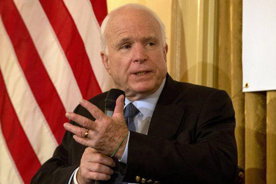 John McCain, nesta segunda-feira em um ato de campanha republicano.