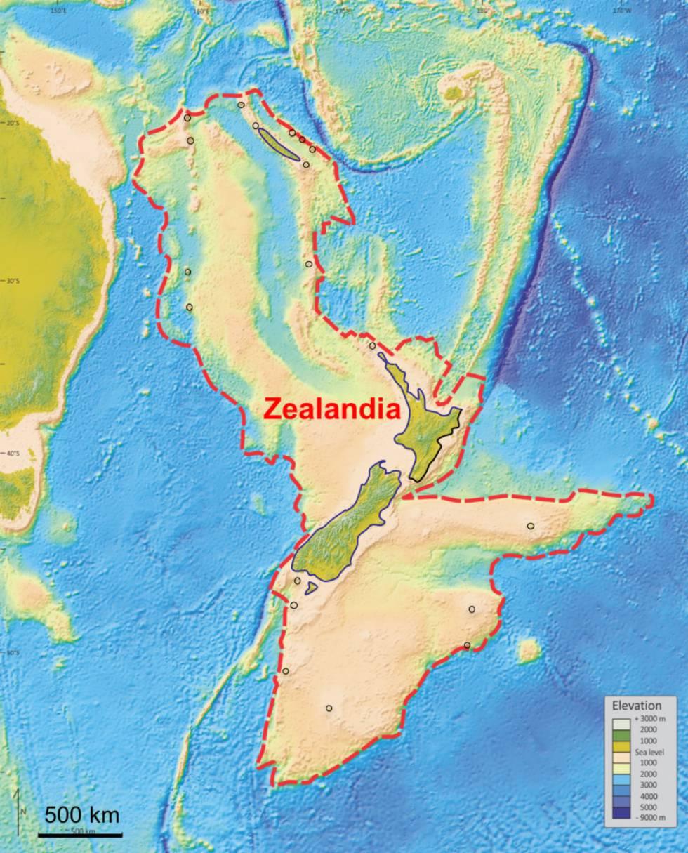 Zealandia, nome dado em inglês ao continente descoberto sob a Nova Zelândia (Zelândia, em português).