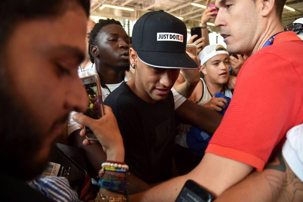Neymar durante o evento publicitário em Miami.