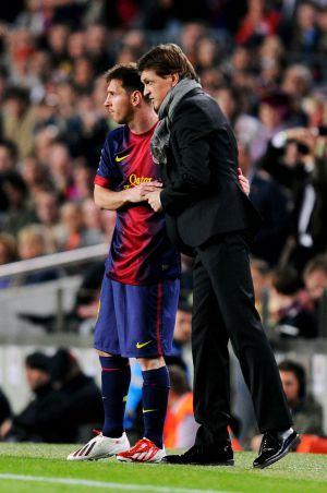 Tito, com Messi.