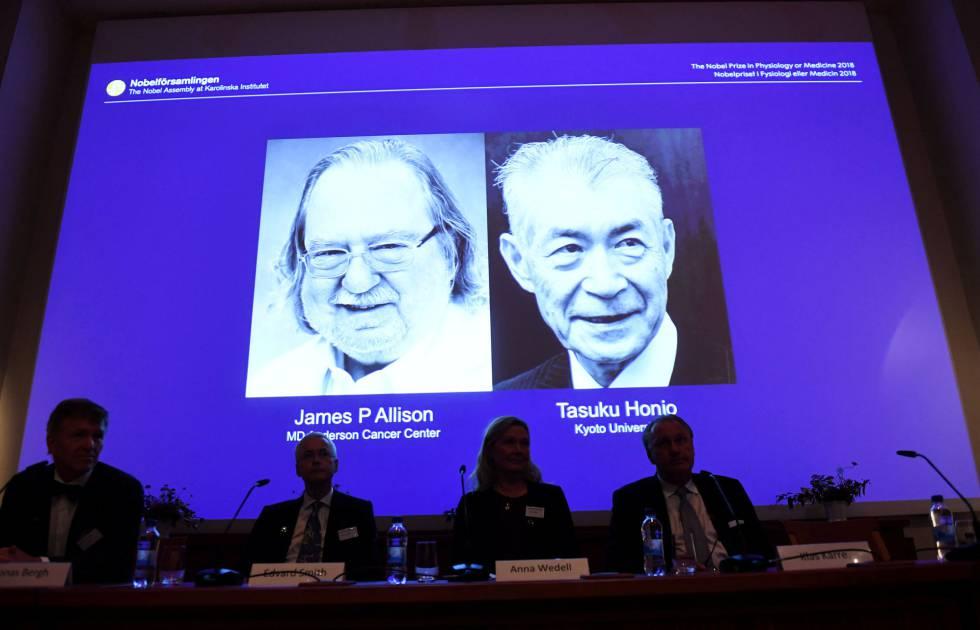 James P. Allison e Tasuku Honjo foram galardoados hoje com o Nobel de Medicina.