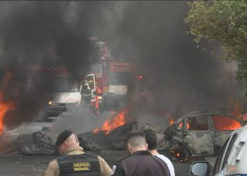 Corpo de Bombeiros confirma que há pelo menos três pessoas mortas e três feridas por conta do acidente que ocorreu na manhã desta segunda-feira