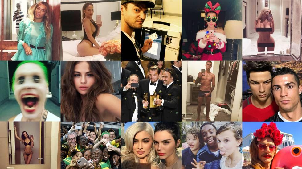 Os selfies mais icónicos de 2016, agrupados por elpais.com.
