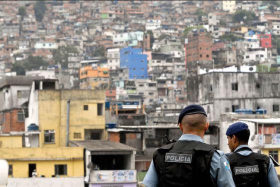 Policiais da UPP da Rocinha.