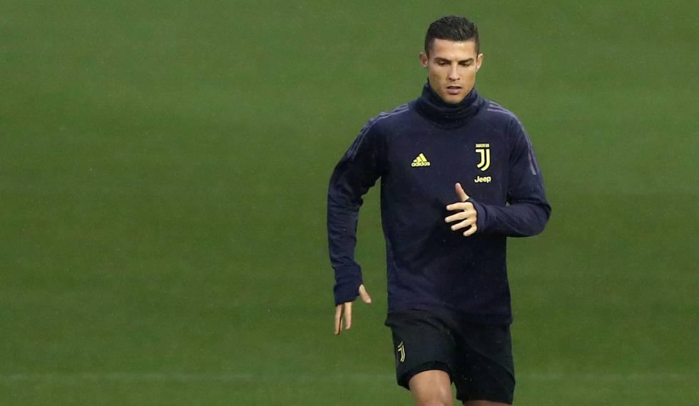 Cristiano Ronaldo treina para enfrentar ex-clube em Turim.