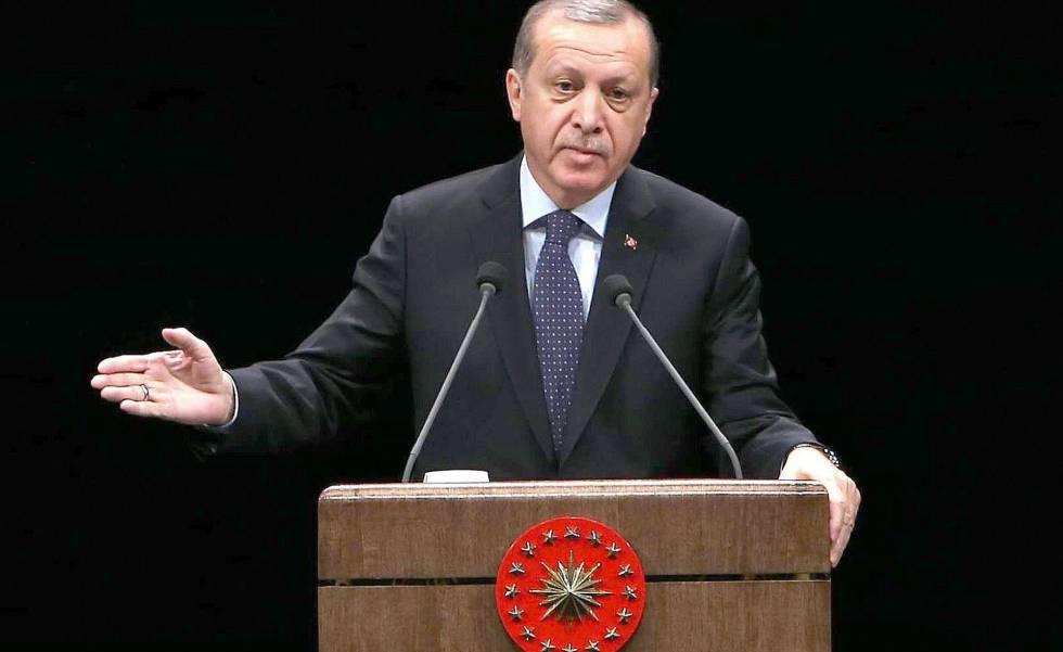 O presidente de Turquia, Recep Tayyip Erdogan, em 24 de novembro.