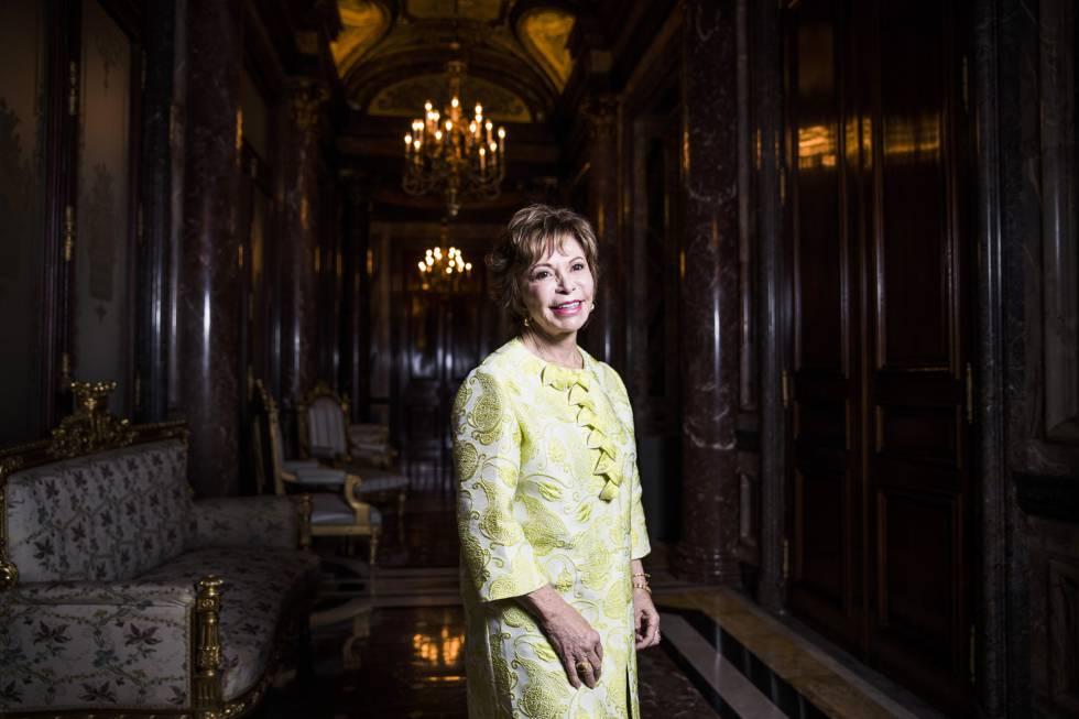 A escritora chilena Isabel Allende, na Casa América, em Madri.