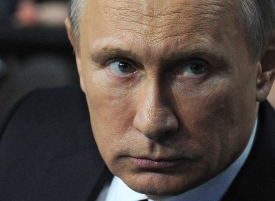Vladimir Putin, hoje em São Petersburgo.