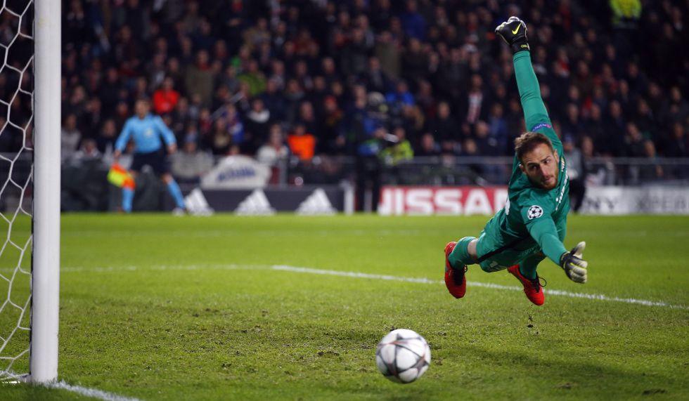 Oblak, segurança no gol do Atlético.