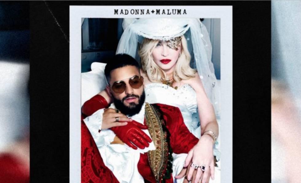 Madonna e Maluma divulgaram nesta quarta-feira a música que cantam em parceria, 'Medellín'.