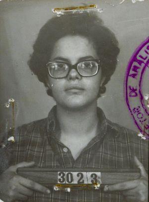 Foto de Dilma ao ser presa.
