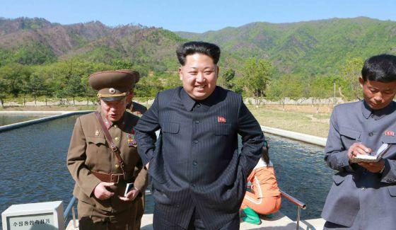 Kim Jong-Un, em uma imagem difundida por jornal norte-coreano.