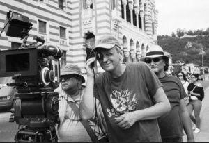 Sergei Loznitsa, durante a rodagem do filme.