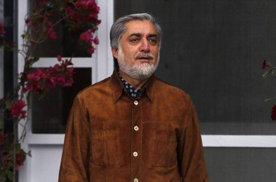 Abdullah Abdullah, o candidato que ganhou no primeiro turno das eleições afegãs.