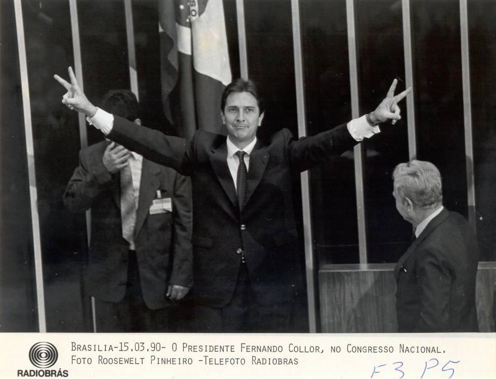 Collor, no Congresso Nacional (1990).