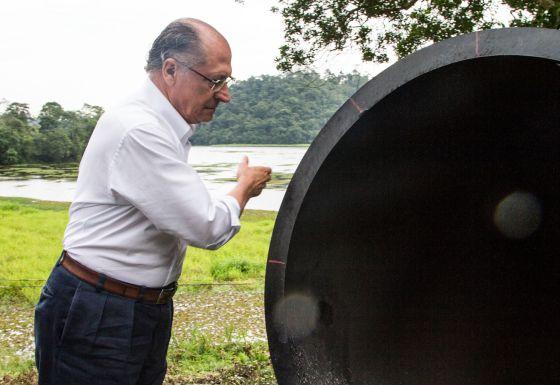 Alckmin deu início às obras de interligação de sistemas.