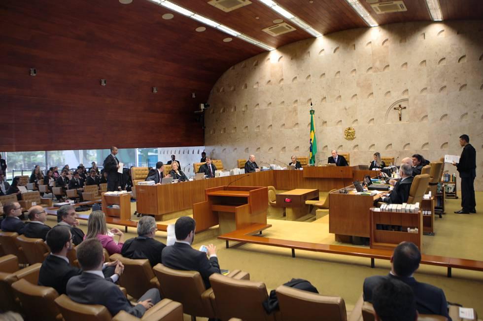Ministros do STF em sessão de março