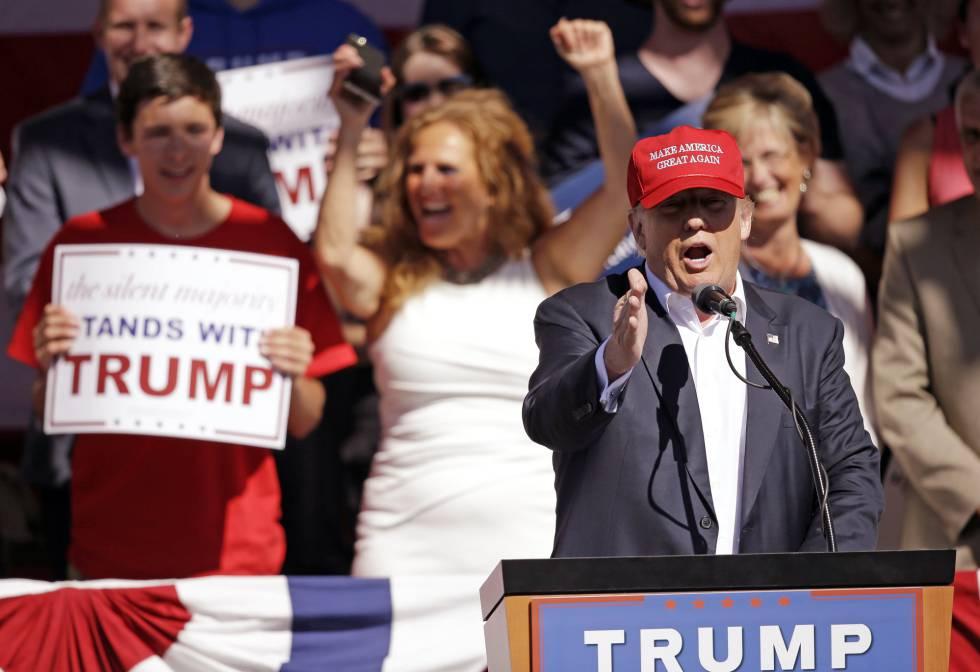 Trump em evento eleitoral no último sábado em Lynden (Washington).