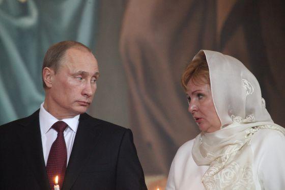 Putin e sua ex-mulher, Lyudmila, em foto de 2011.
