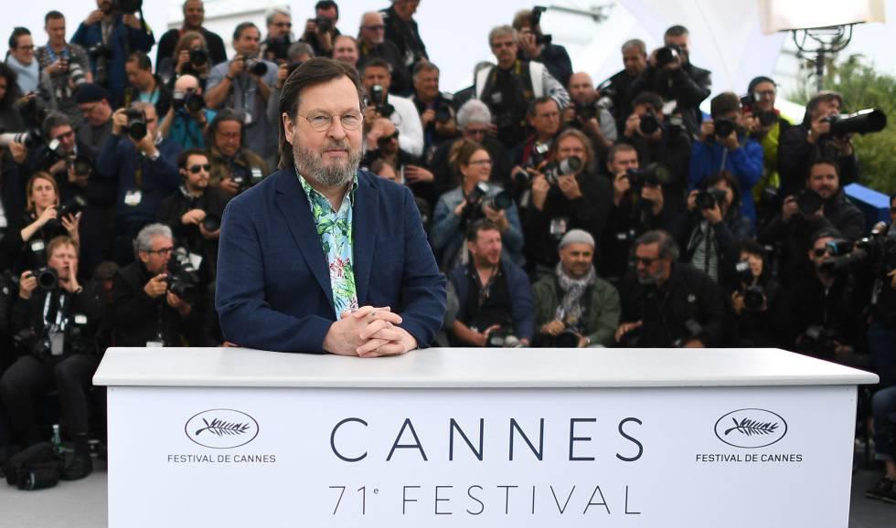 O cineasta Lars Von Trier depois da apresentação de seu filme 'A Casa que Jack Construiu', na terça-feira, em Cannes.