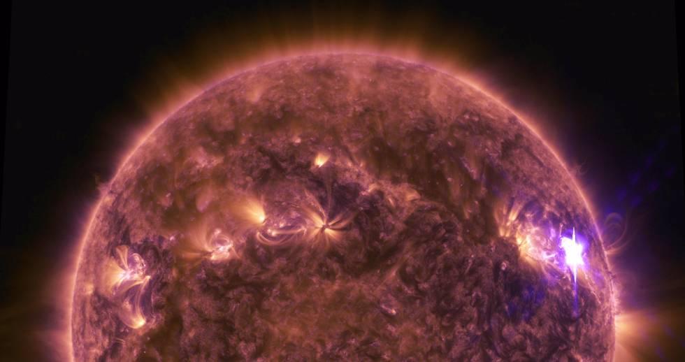 Uma fulguração do Sol captada em abril de 2016