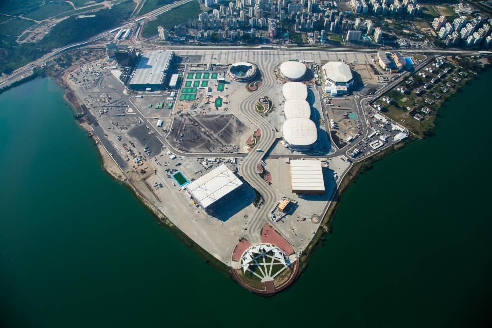 Vista aérea do Parque Olímpico, no Rio.