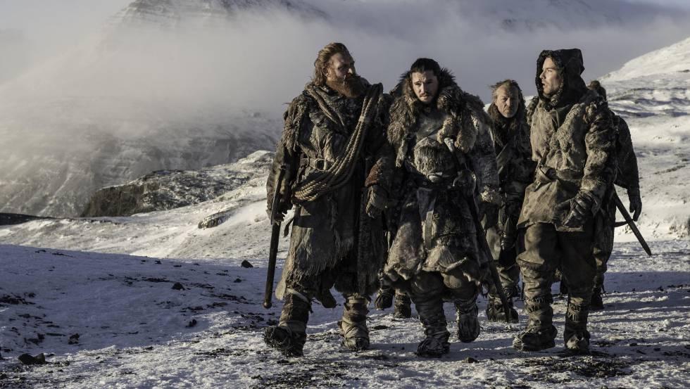 Imagem do sexto capítulo da sétima temporada de 'Game of Thrones' filmada na Islândia.