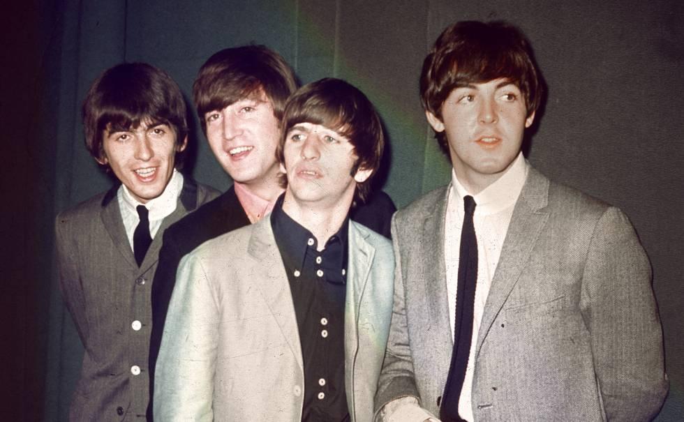 George Harrison, John Lennon, Ringo Starr e Paul McCartney, em 1960