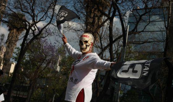 Mulher em manifestação sobre o caso Iguala.